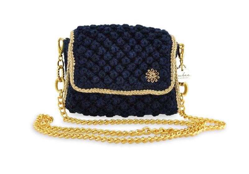 Jewel  Charm Small Blue Black