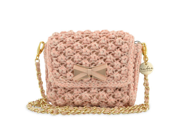Jewel X Bow Small Nude Beige