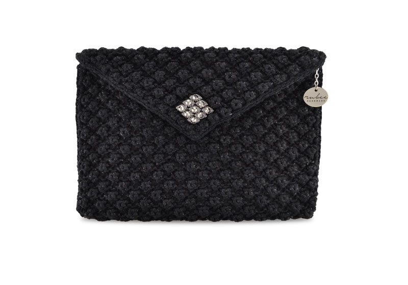 Jewel Envelope Sparkly Black
