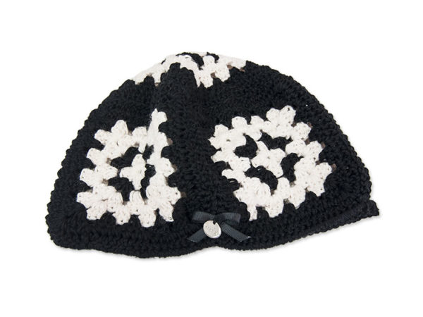 Granny Black & White Hat